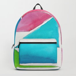 180811 Watercolor Block Swatches 1| Colorful Abstract |Geometrical Art Backpack