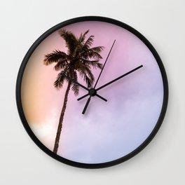 Vintage Tropical Palm Tree Wall Clock