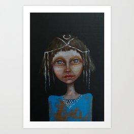 portrait girl Art Print