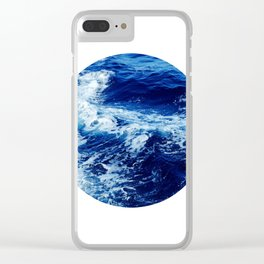 Wild Sea Circle Photo Clear iPhone Case