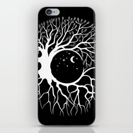 Tree of life, circular continuity iPhone Skin