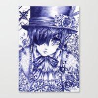 kuroshitsuji Canvas Prints featuring Ciel Phantomhive by Furiarossa
