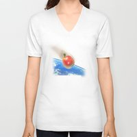gravity V-neck T-shirts featuring Gravity by John Medbury (LAZY J Studios)