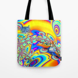 Alice in Fractal Land by Amanda Martinson Tote Bag