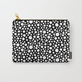 Hand drawn polka dot pattern - White Carry-All Pouch