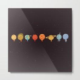 Chibi Planets Metal Print