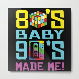 80s 80s Fashion 80s Music 80s Party Metal Print