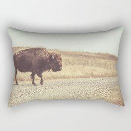 Bison Xing Buffalo Crossing Rectangular Pillow