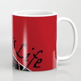 The fitness club . Red black creative pattern . Coffee Mug