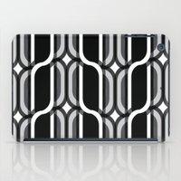 bauhaus iPad Cases featuring Bauhaus Type Black and White Art by Addison Barker
