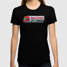 Truck Driver Season Greetings Tractor Trucker Xmas Christmas T-shirt