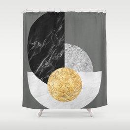 Geometric and minimalist marble III Shower Curtain