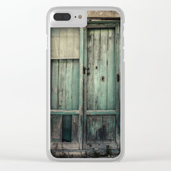 Old Green Door Clear iPhone Case