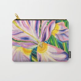 White Iris of Belize Carry-All Pouch