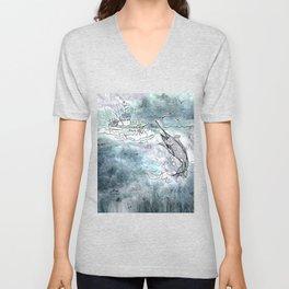 Fishing swordfish Unisex V-Neck