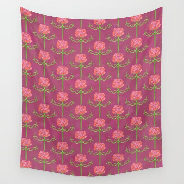 Spring Roses Pattern ~ LOVED UP VAR Wall Tapestry