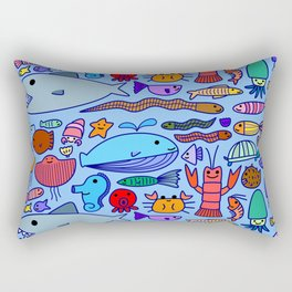 Colours Under the Sea Rectangular Pillow