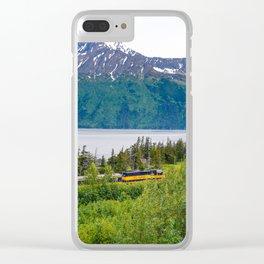 Alaska Passenger Train - Bird Point Clear iPhone Case
