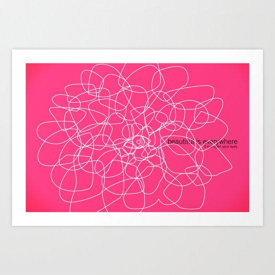 see beauty Art Print