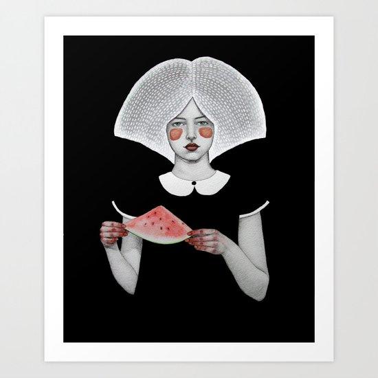 Zora in Black Art Print