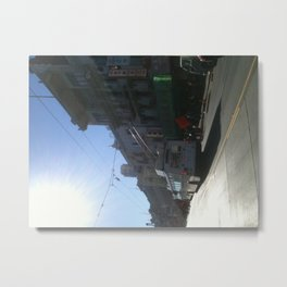 held up by cords Chinatown Metal Print