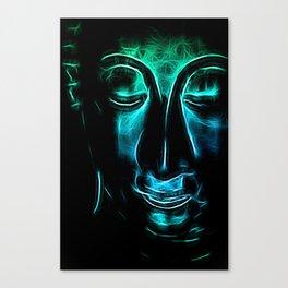 Buddha Facial cyanblue Canvas Print