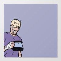 "clint barton Canvas Prints featuring Clint Barton -  ""Good boy"" by wasabinokiki"