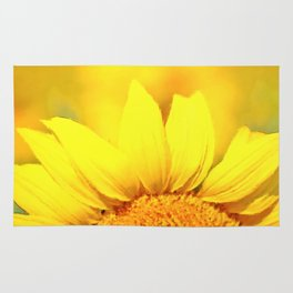 Sunflower love Flowers Flower Summer floral Rug
