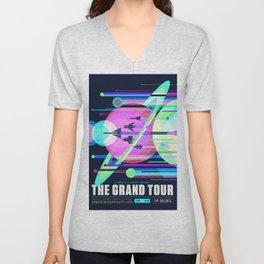 The Grand Tour : Vintage Space Poster Cool Unisex V-Neck