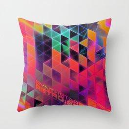 synthstar retro:80 Throw Pillow