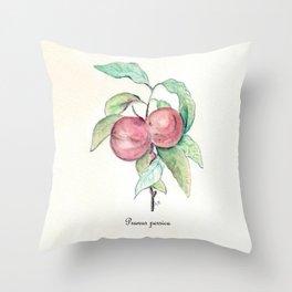 Prunus Persica Throw Pillow