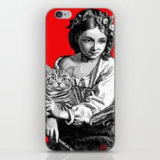 Young Girl with Cat iPhone & iPod Skin