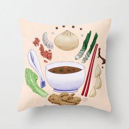 Dumpling Diagram Throw Pillow