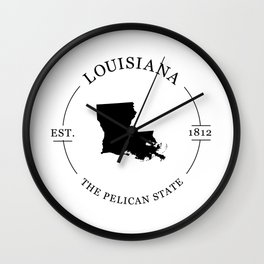 Louisiana - The Pelican State Wall Clock