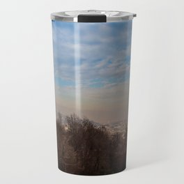 Views over foggy Budapest Travel Mug