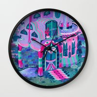 house Wall Clocks featuring Bertram's House by Valeriya Volkova