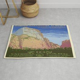 Vintage poster - Zion National Park Rug