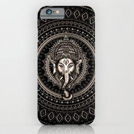 Lord Ganesha - Sepia Black iPhone Case