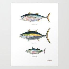 Tunas poster Art Print
