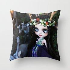 ISOBEL FAWN (Ooak BLYTHE Doll) Throw Pillow