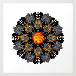 flame grave mandala Art Print