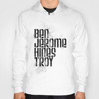 caleb troy Hoodies featuring Ben Jerome Hines Troy / Gold by Brian Walker