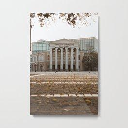 Public theater in Subotica, Serbia // fall // autumn Metal Print