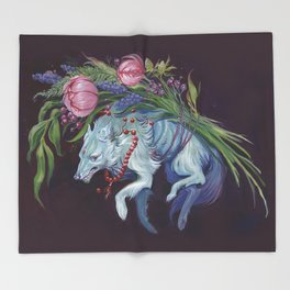 Lupine Throw Blanket