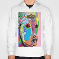 rottweiler Hoodies featuring Lady Rottweiler by EloiseArt
