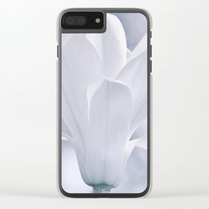 Magnolia flower macro 248 Clear iPhone Case