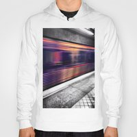 subway Hoodies featuring Subway by Yancey Wells
