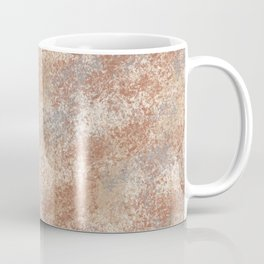 Cavern Clay SW 7701 and Abstract Distressed Chaotic Sponge Paint Pattern 2 Coffee Mug