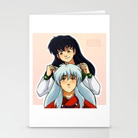 inuyasha Stationery Cards featuring InuKag by KaiAyame