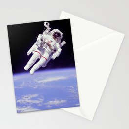Astronaut on a Spacewalk Stationery Cards